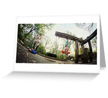 Acroyoga and Aerial Yoga at Central Park, New York Greeting Card