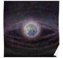 Orbital Debris - Space Debris Painting Poster