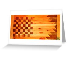 Woodworking Flag Greeting Card