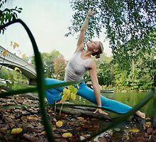 Yoga by the Bow Bridge, Central Park, New York by Wari Om  Yoga Photography