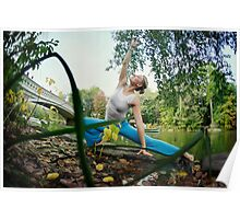 Yoga by the Bow Bridge, Central Park, New York Poster