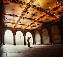 Yoga at Bethesda Terrace, Central Park, New York by Wari Om  Yoga Photography