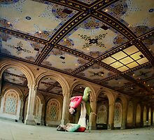Acroyoga at Bethesda Terrace, New York by Wari Om  Yoga Photography