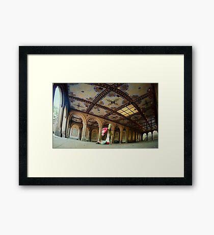 Acroyoga at Bethesda Terrace, New York Framed Print