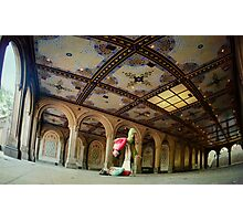 Acroyoga at Bethesda Terrace, New York Photographic Print
