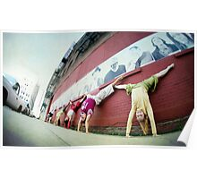 Yogis in Handstand at Dumbo, New York  Poster