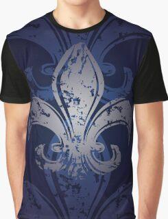 Grunge Fleur De Lis Graphic T-Shirt