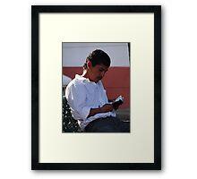 Traditional Reader - Lector tradicional Framed Print