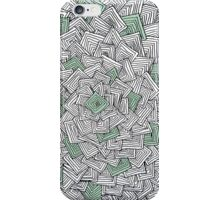 Zentangle Squares Green iPhone Case iPhone Case/Skin