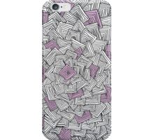 Zentangle Squares Pink iPhone Case iPhone Case/Skin