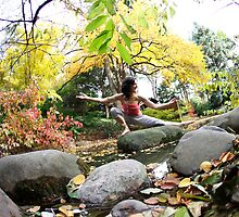 Yoga by the river by Wari Om  Yoga Photography