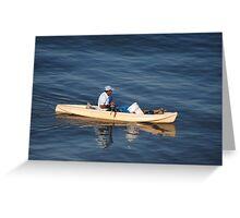 Fishing In The Morning Light - Pescar En La Luz De La Manaña Greeting Card