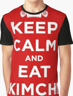 Keep Calm and Eat Kimchi Graphic T-Shirt