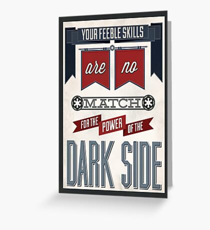 Star Wars Quote Poster Greeting Card
