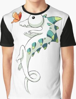 Crocodile and a Butterfly Graphic T-Shirt