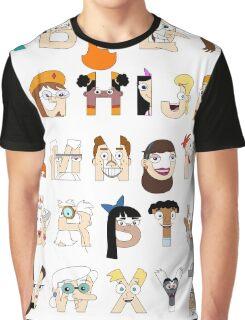 P&F Alphabet Graphic T-Shirt