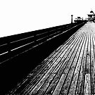 Along the pier at Clevedon by Robert Down