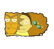 Rick and Morty - Breaking bad!!! Photographic Print