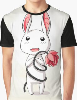 Bunny Flower Graphic T-Shirt