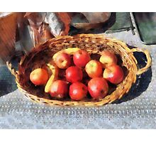 Apples and Bananas in Basket Photographic Print