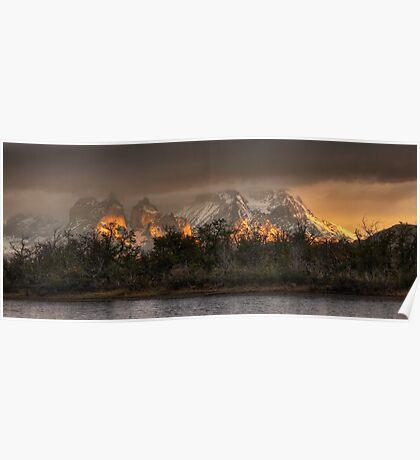 Sunrise in Torres del Paine Poster