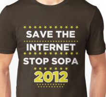 Save the Internet - Stop SOPA Unisex T-Shirt