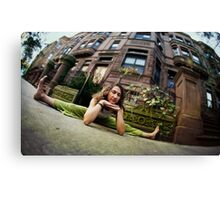 Green Yoga at Harlem, New York Canvas Print