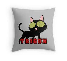 trigun kuroneko cat anime manga shirt Throw Pillow