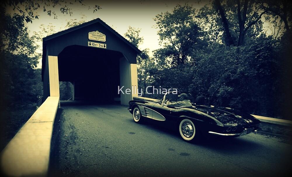 Vintage Vette ~ Van Sandt Covered Bridge by Kelly Chiara