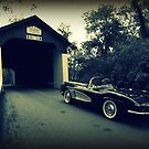 Vintage Vette ~ Van Sandt Covered Bridge by Kelly Chiara
