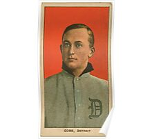 Benjamin K Edwards Collection Ty Cobb Detroit Tigers baseball card portrait 003 Poster