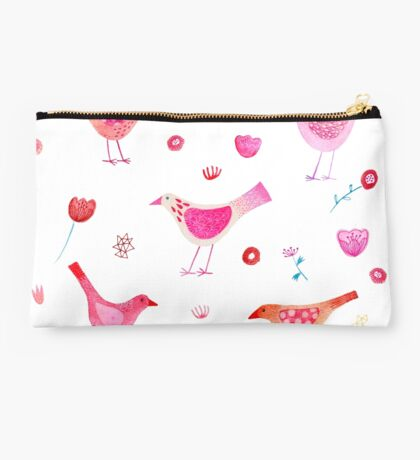 Birds and Blossoms Studio Pouch