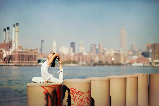 Yoga in Williamsburg, New York City by Wari Om  Yoga Photography