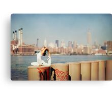Yoga in Williamsburg, New York City Canvas Print