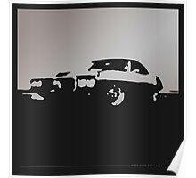 Pontiac Firebird, 1969 - Gray on black Poster