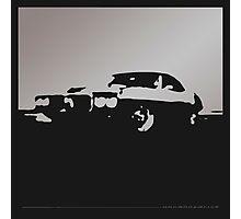 Pontiac Firebird, 1969 - Gray on black Photographic Print