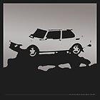 Saab 99 EMS,  1974 - Gray on black by uncannydrive