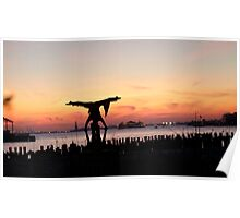 Arcroyoga Sunset, New York City Poster