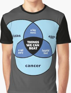 We Can Beat It | Funny Motivational Cancer Diagram Graphic T-Shirt