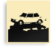 Saab 99 EMS,  1974 - Black on cream Canvas Print