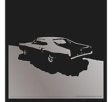 Mercury Marauder,  1969 - Gray on black Photographic Print