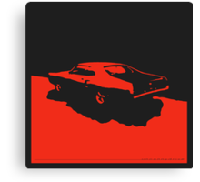 Mercury Marauder,  1969 - Red on black Canvas Print