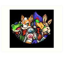 STAR FOX FLEET Art Print