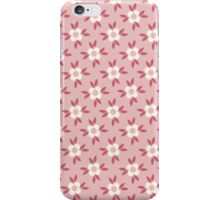 Hot Pink and White Retro Wallpaper Flower Pattern iPhone Case/Skin