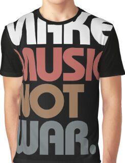Make Music Not War (Antique) Graphic T-Shirt