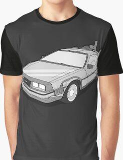 Back to the Future Delorean  Graphic T-Shirt