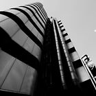 Lloyds building London black And white by DavidHornchurch