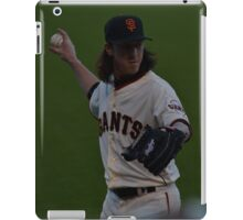 Tim Lincecum warming up iPad Case/Skin