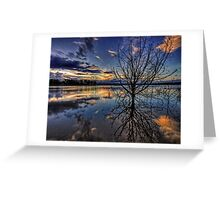 Reflections of twilight Greeting Card