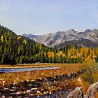 Landscape Painting - Estes Mountain Lake - 9.5 x 12.88 Oil by Daniel Fishback